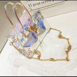 Women's translucent crossbody purse